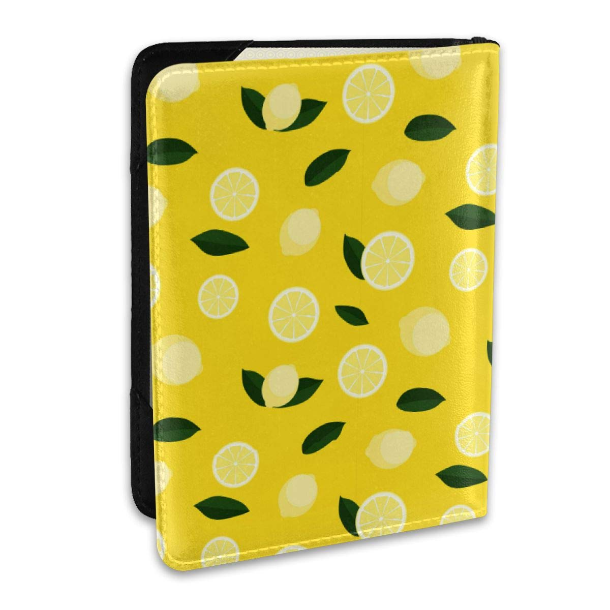 Biahos Leather Passport Cover Lemon And Green Leaves Wallet For Passport Case