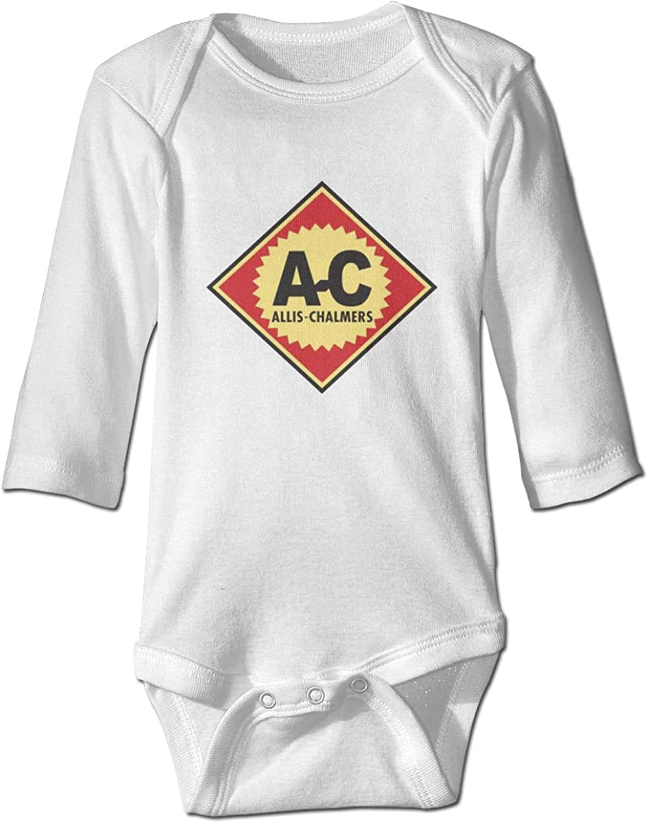 AP.Room Loose Baby Long Sleeve Allis Chalmers Logo Bodysuit Soft Breathable