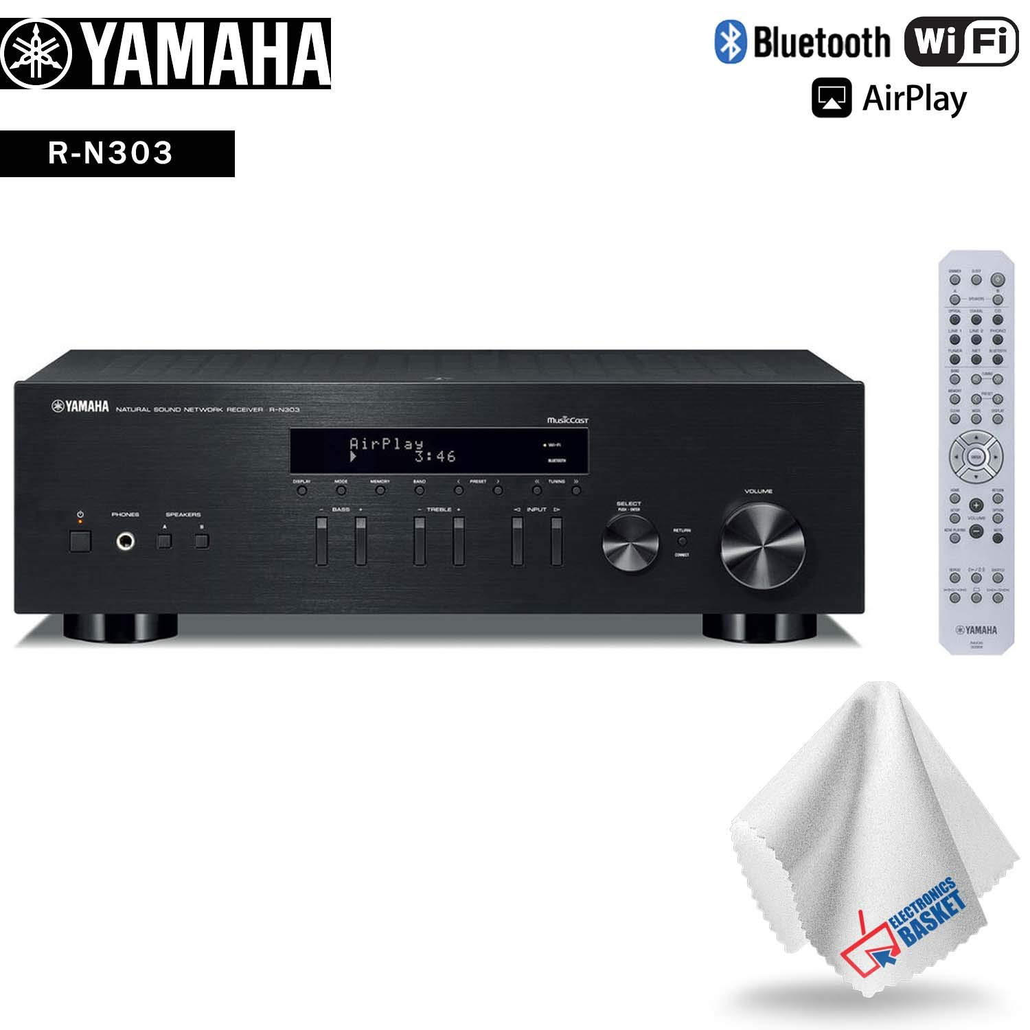 Yamaha R-N303 Stereo Network Receiver Accessory Kit - Includes - Cleaning Cloth