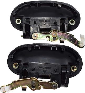 sinistra e destra Maniglia esterna per porta posteriore eGang 8265022000 per Hyundais Accent 1995 1996 1997 1998 1999