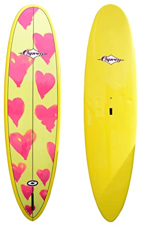 Osprey epoxi Mal Corazones Tabla de Surf, Color Amarillo, 7 ft/15,