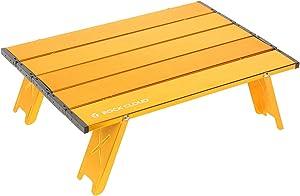 Rock Cloud Ultralight Folding Beach Table Aluminum Portable Camping Table, Golden