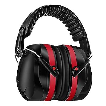 Homitt Ohrenschützer Gehörschutz mit verstellbar Kopfbügel für Erwachsene inkl. Tragetasche, Anti-lärm bis SNR 34dB Kapselgeh