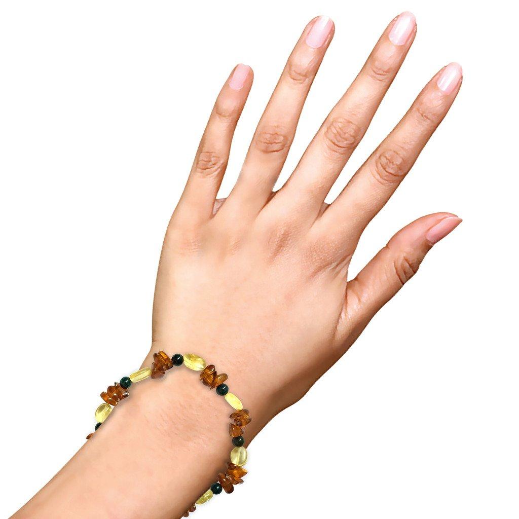 WCJ Chakra Healing Power Bracelet for URINARY BLADDER :Natural Gemstones, Balancing Reiki-Yoga-Meditation Crystal Healing: Unisex. Adjustable. by WCJ (Image #2)
