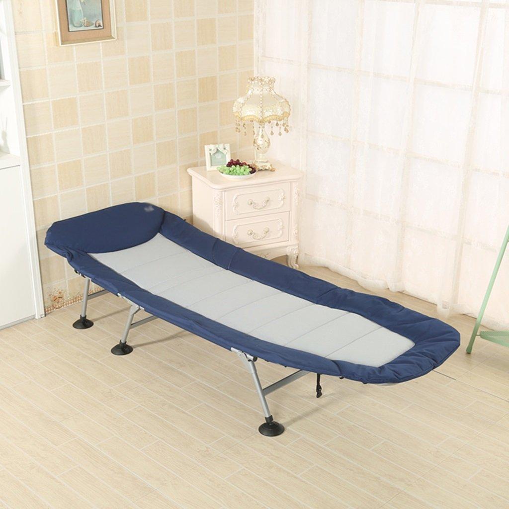 Einfaches Lounge - Klappbett tragbares Fischerbett Bett für Büroschlaf Einzelbett im Freien Strandbett März