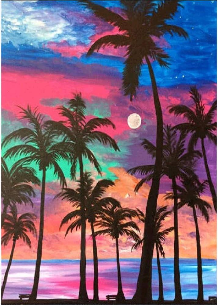 Sunset apple sea 5D Diamond Painting Full Drill DIY Embroidery Home Decor