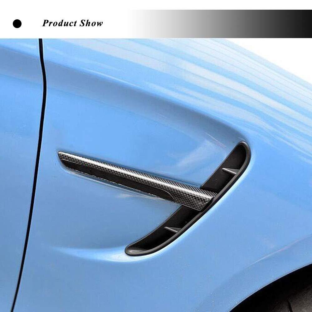 JC SPORTLINE M3 M4 CF Fender Vent Trim fits BMW F80 M3 Sedan F82 F83 M4 Coupe Convertible 2014-2018 Carbon Fiber Front Grill Air Intake Cover