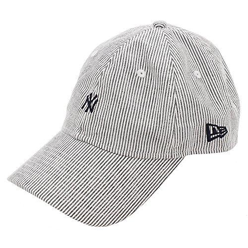 (ニューエラ) NEW ERA キャップ サイズ調整 9THIRTY SEERSUCKER ミニロゴ MLB ニューヨークヤンキース FREE (サイズ調整可能)