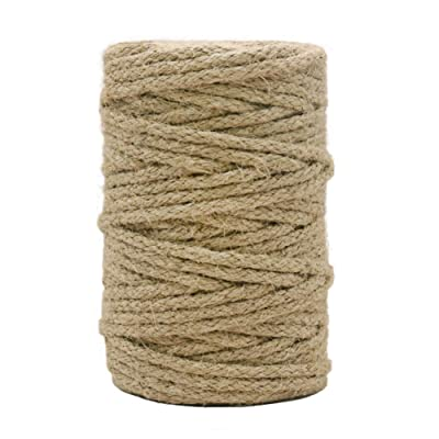 Vivifying Braided Jute Twine, 101 Feet 3.5mm Strong Jute Cord for Garden, Gifts, DIY Crafts (Brown) : Office Products