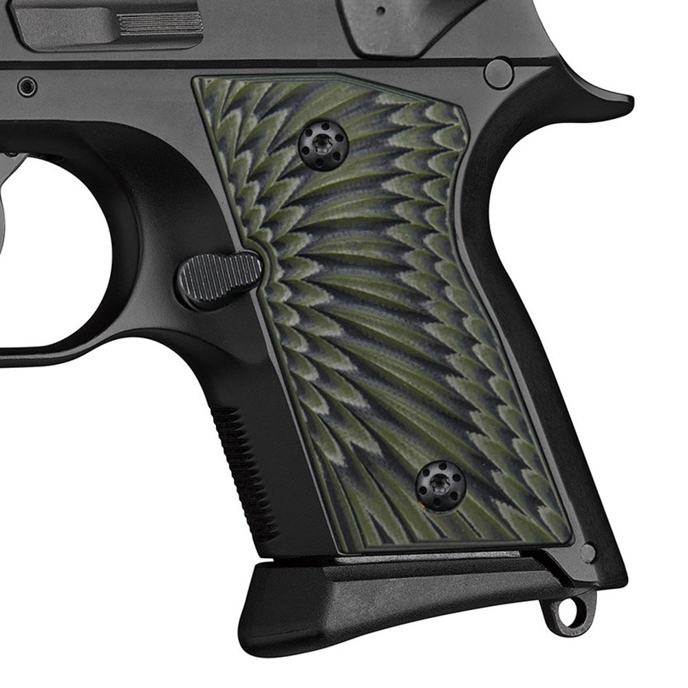Cool Hand G10 Grips for CZ 2075 RAMI,Sunburst Texture,OD Green/Black by Cool Hand