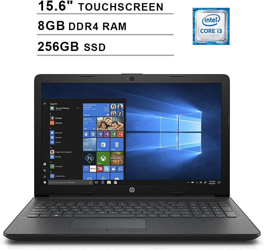 2020 Newest Premium HP Pavilion 15.6 Inch Touchscreen Laptop (Intel Core i3-7100U 2.40GHz, 8GB RAM, 256GB SSD, WiFi, HDMI, DVDRW, HD Audio, Webcam, Windows 10)