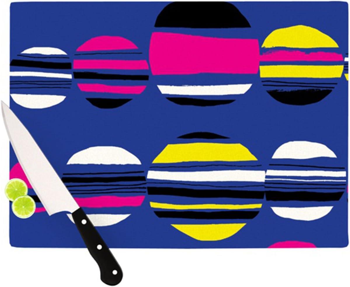 Kess InHouse Emine Ortega Retro Circles Cobalt Cutting Board, 11.5 by 15.75-Inch 61Yfim6q7hL