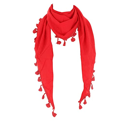 FTSD – FindTheSecretDreams – Fular – Básico – para mujer rojo rosso Talla única