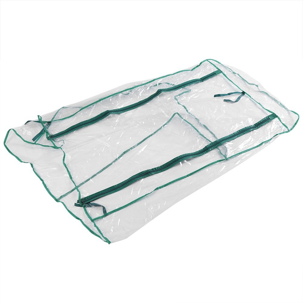 MTB Outdoor Portable Walk-in Garden Greenhouse Replacement PVC Cover for Greenhouse Frame Size 27'' Lx19 Wx61 H