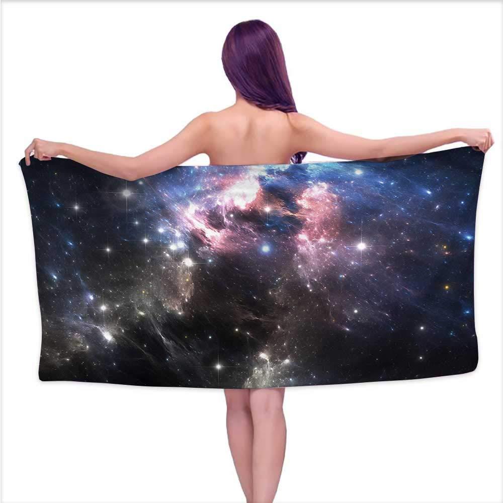 Denruny Sauna Towel Constellation,Vivid Supernova,W31 xL63 for Kids