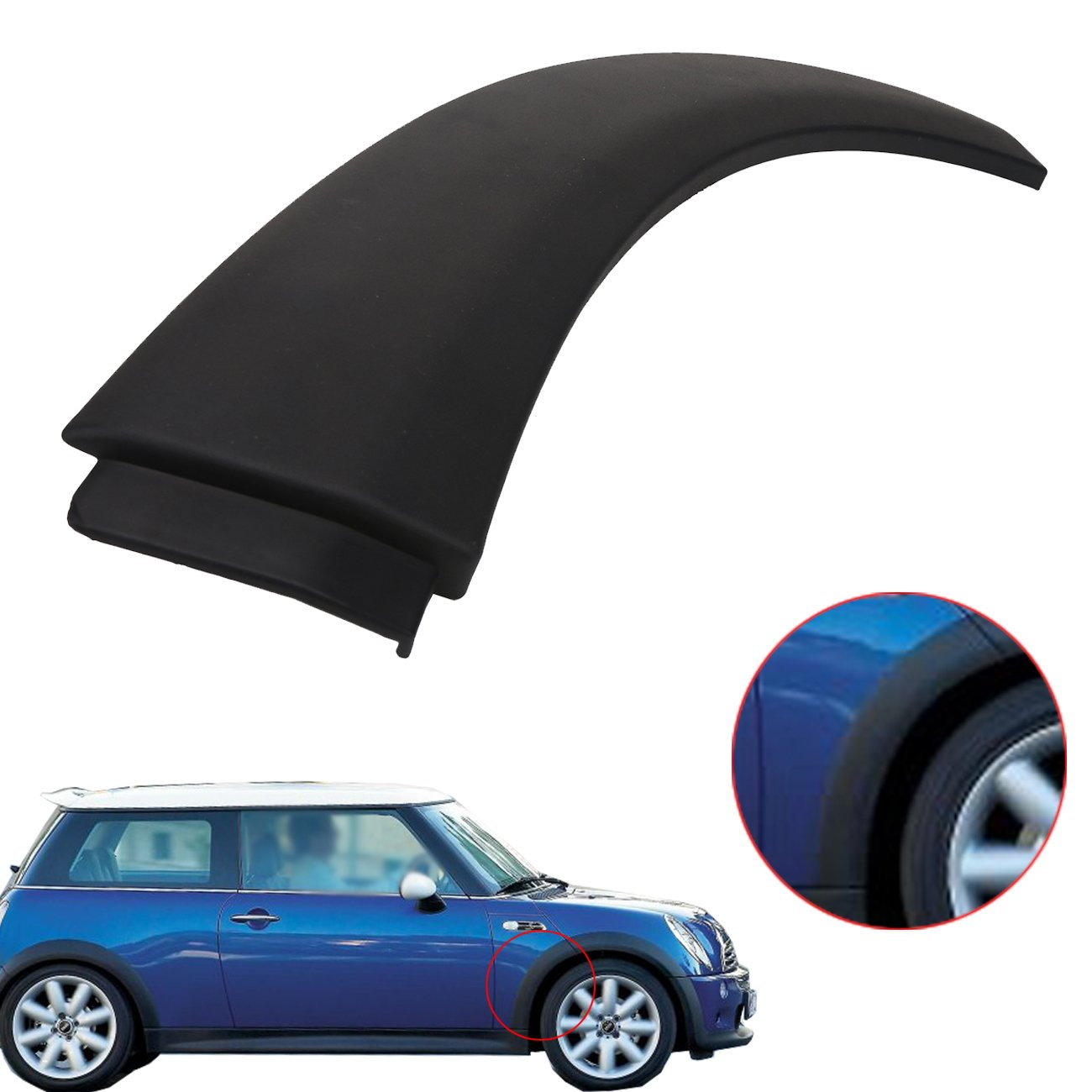 Amazoncom Wheel Arch Trim Fender For Mini Cooper 51131505864