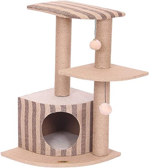 Jaulas Casa del Gato Gato Trepador De Tres Capas Árbol De Gato ...