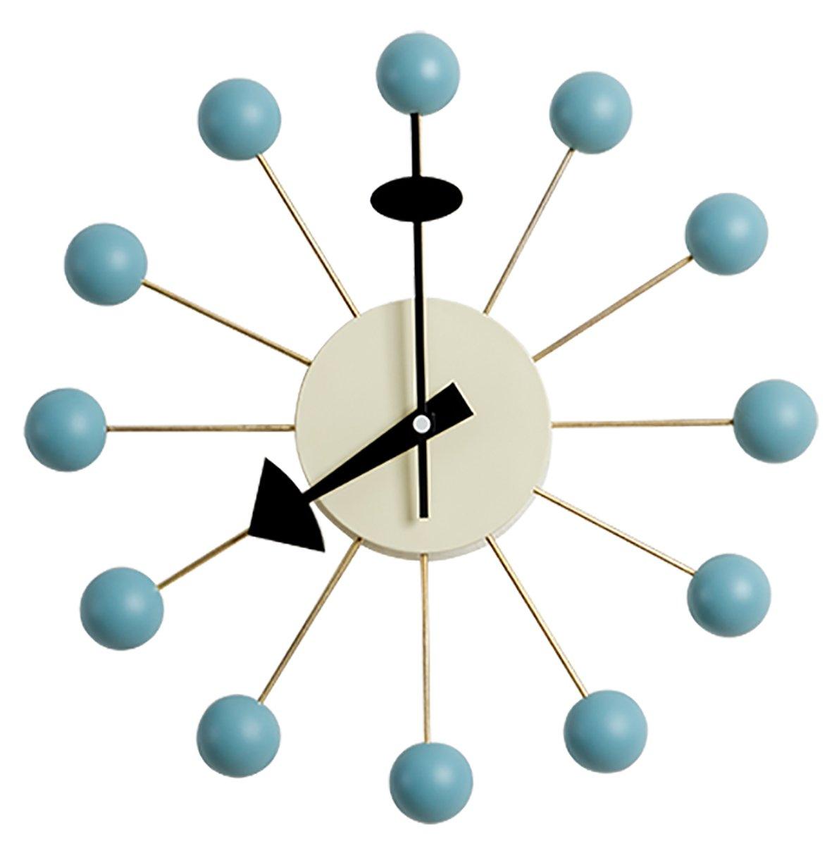 MLF®ジョージ ネルソン ボールクロック 浅葱色 B01EYD9TN2 浅葱色 ボールクロック 浅葱色 ボールクロック