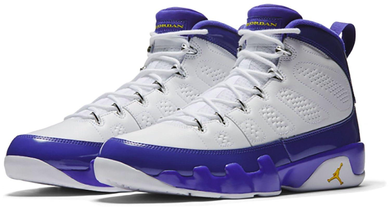 07356084925 Nike Air Jordan 9 KOBE BRYANT PE White Concord-Tour Yellow 302370 ...