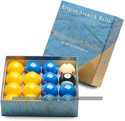 Microfibre Cloth /& Aramith Ball Case Billiard Ball Cleaner 8.4 fl.oz Aramith Bundle of 4 Items Premium Billiard Pool Ball Set 2 1//4 Bottle
