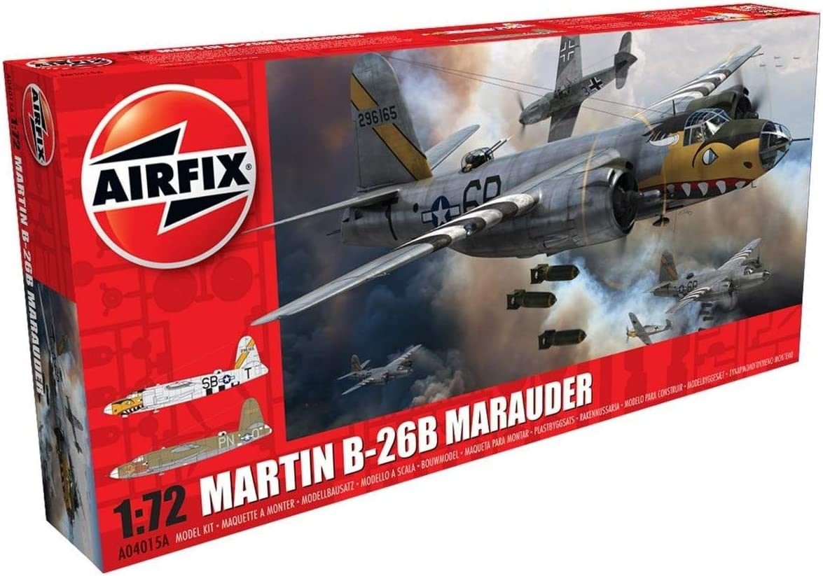 Airfix A04015A Martin B26 B//C Marauder 1//72 Model Kit Pack of 12 Multicolor