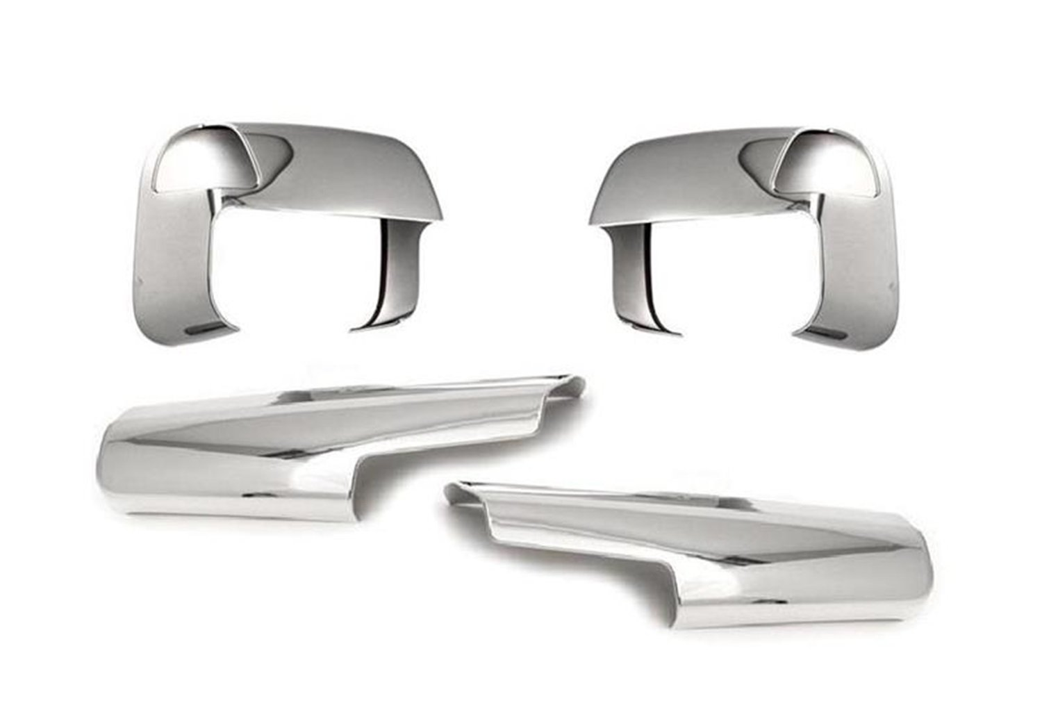 4 Piece Putco 400520 Chrome Overlay for Tow Mirror with Light