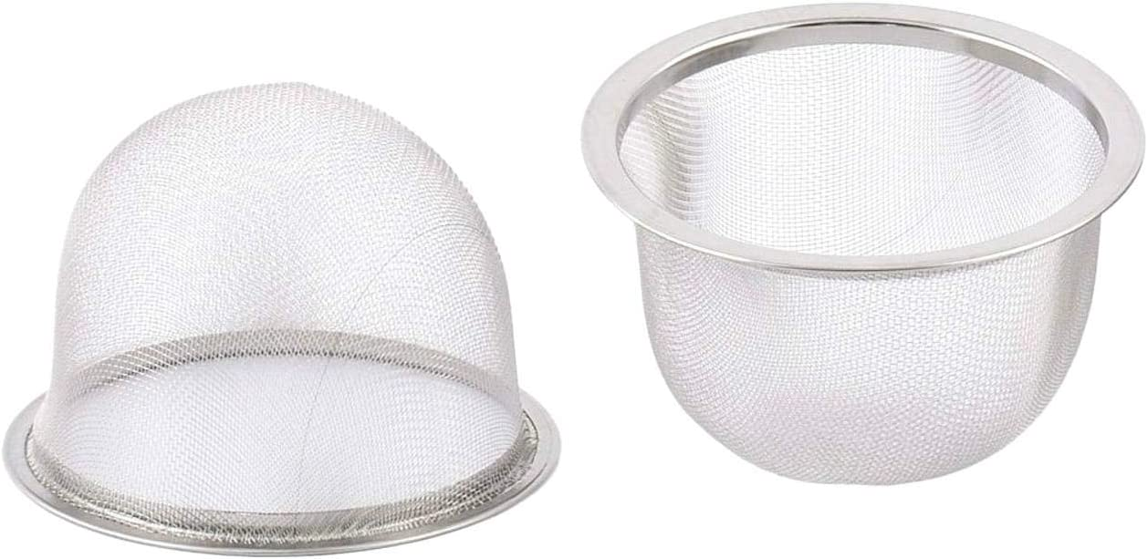 4pcs Stainless Steel Round Mesh Strainer Tea Leaf Spice Teapot Filter Strainers 80mm Dia