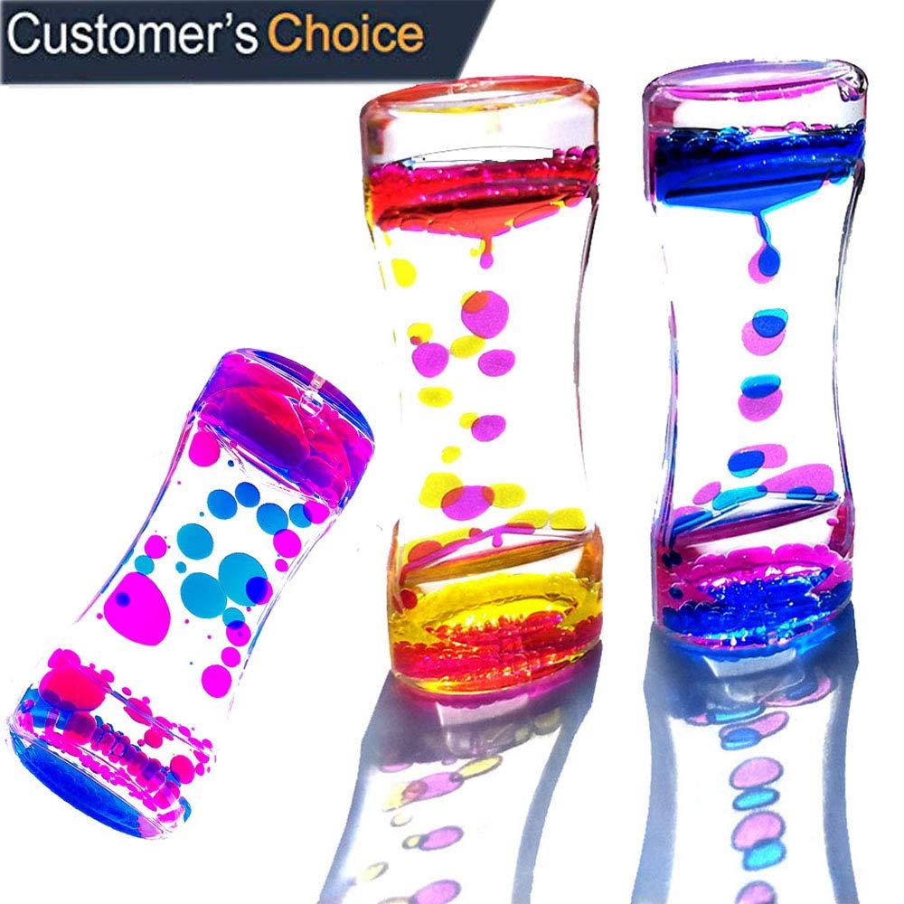 YUE Acton Liquid Motion Bubbler / Liquid Timer Sensory Toys, Fidget Toy, Children Activity, Calm Relaxing Desk Toys, Anxiety Toys, Autism Toys, ADHD Fidget Toys, Assorted Colors, One Piece