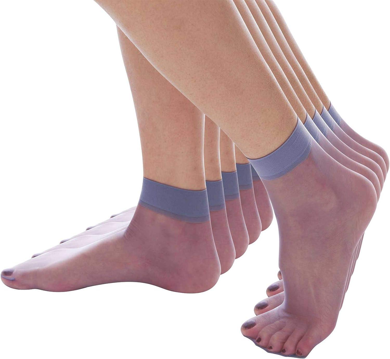 5 paia ElsaYX Calzini alla caviglia ultraleggeri