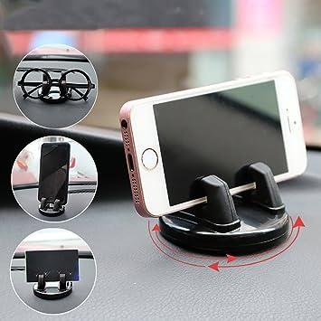 Soporte de coche para móvil soporte de salpicadero – seametal GPS Soporte para teléfono Universal 360
