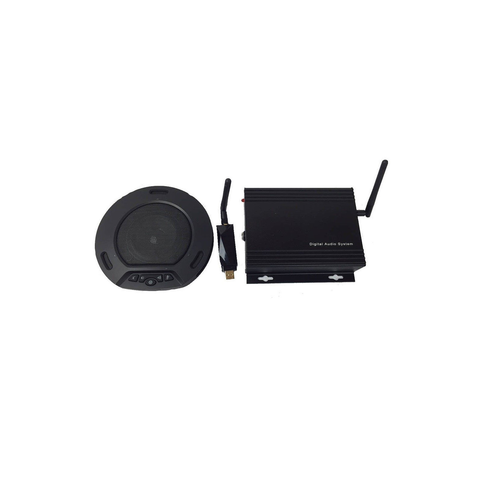 HuddlePod Air Big Audio - Wireless Audio Conferencing with External Audio Out - Black by HuddleCamHD