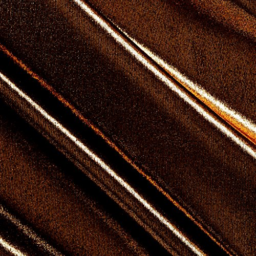 y Foil Lame Knit Black/Copper Fabric By The Yard (Foil Slinky)