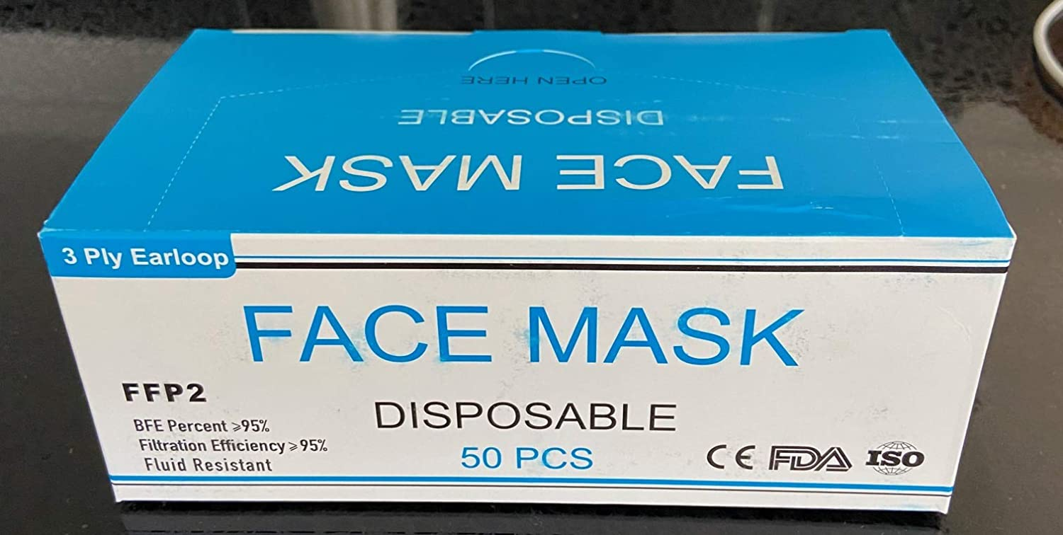 Disposable Fcae Cover, 3-Ply Face Mouth for Dust Protection, Beauty Medical Dust Másk Medical Surgical face Cover for Gérms Coroná Virùs Coronávirus Flù 100 Pack
