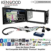Volunteer Audio Kenwood DNX574S Double Din Radio Install Kit with GPS Navigation Apple CarPlay Android Auto Fits 2013-2014 Buick Enclave, 2013-2014 Chevrolet Traverse (Bose and Onstar)
