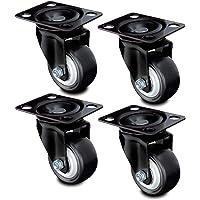 Nirox 4x meubelwielen 50mm - zwenkwielen - zacht wegrollen, wielen vrij van loopsporen - 70mm totale hoogte - wielen…
