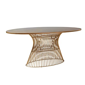 inkivy mercer oval dining table bronze see below