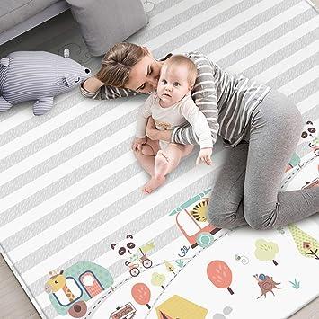 POXL Alfombra de Juegos Bebé Grande, 200 x 180cm Infantil