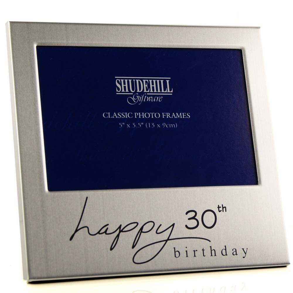 Shudehill Giftware 12,7 x 7,6 cm Happy 30. Geburtstag Foto Rahmen ...