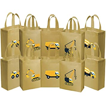 Amazon construction work ava kings fabric tote party construction work ava kings fabric tote party favour goodie gift bags for negle Gallery