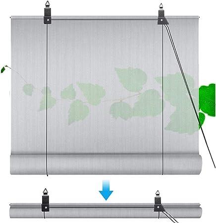 Paño De Sombra Kit De Persiana Enrollable, Cubierta De Pérgola, Bloque UV, Respirable Filtrar 180GSM Instalación Sin Perforaciones Usado para Patio Al Aire Libre,Cubierta: Amazon.es: Hogar