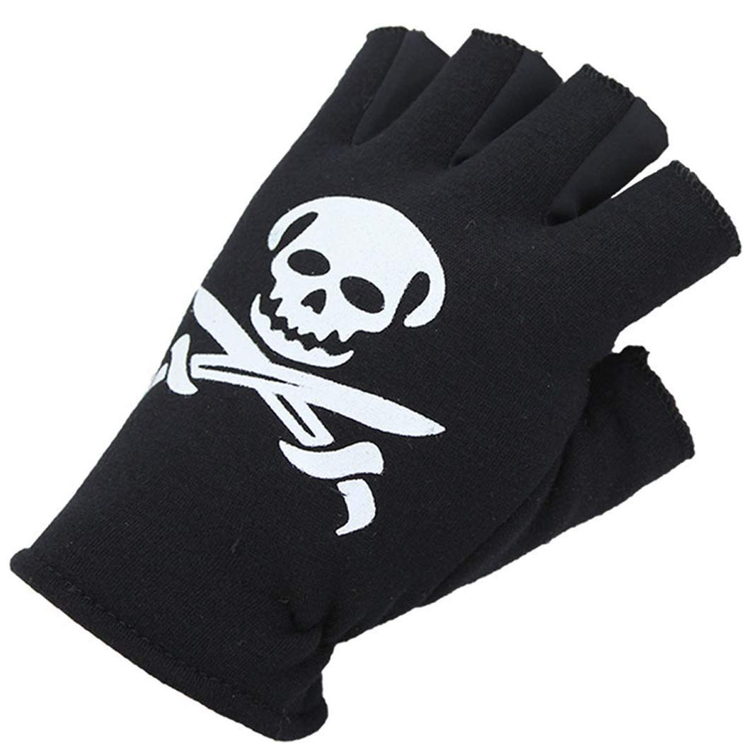 MISS/&YG Mens and Womens Sunscreen Riding Half Finger Gloves Sweat-Absorbent Breathable Sports Recovery Gloves
