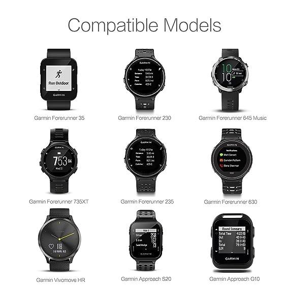 TUSITA Cargador para Garmin Forerunner 35 230 235 630 645 Music 735XT, Approach G10 S20, Vivomove HR - USB Cable De Carga 100cm - GPS Relojes ...