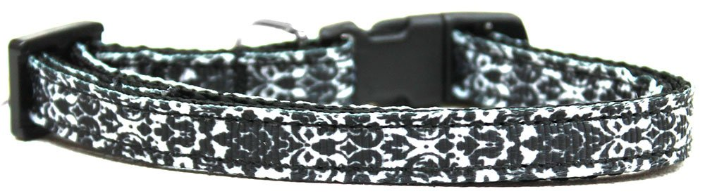 Mirage Pet Products Fancy Black and White Nylon Ribbon Cat Safety Collar by Mirage Pet Products