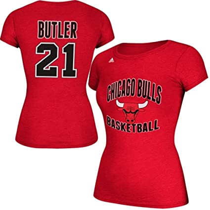 pretty nice e1f57 d8456 Jimmy Butler Chicago Bulls Womens Red Jersey Name and Number T-shirt