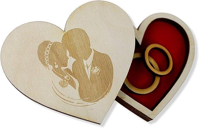 Caja para anillos de boda de madera creativa para anillo de boda ...