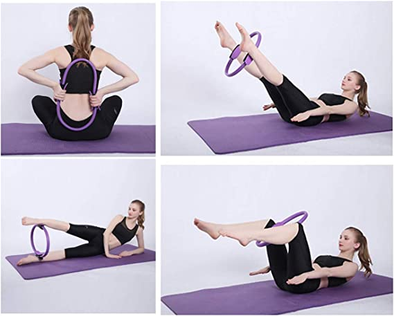 Anillo de entrenamiento de resistencia para pilates y pilates c/írculo m/ágico para quemar grasa ERLINGO