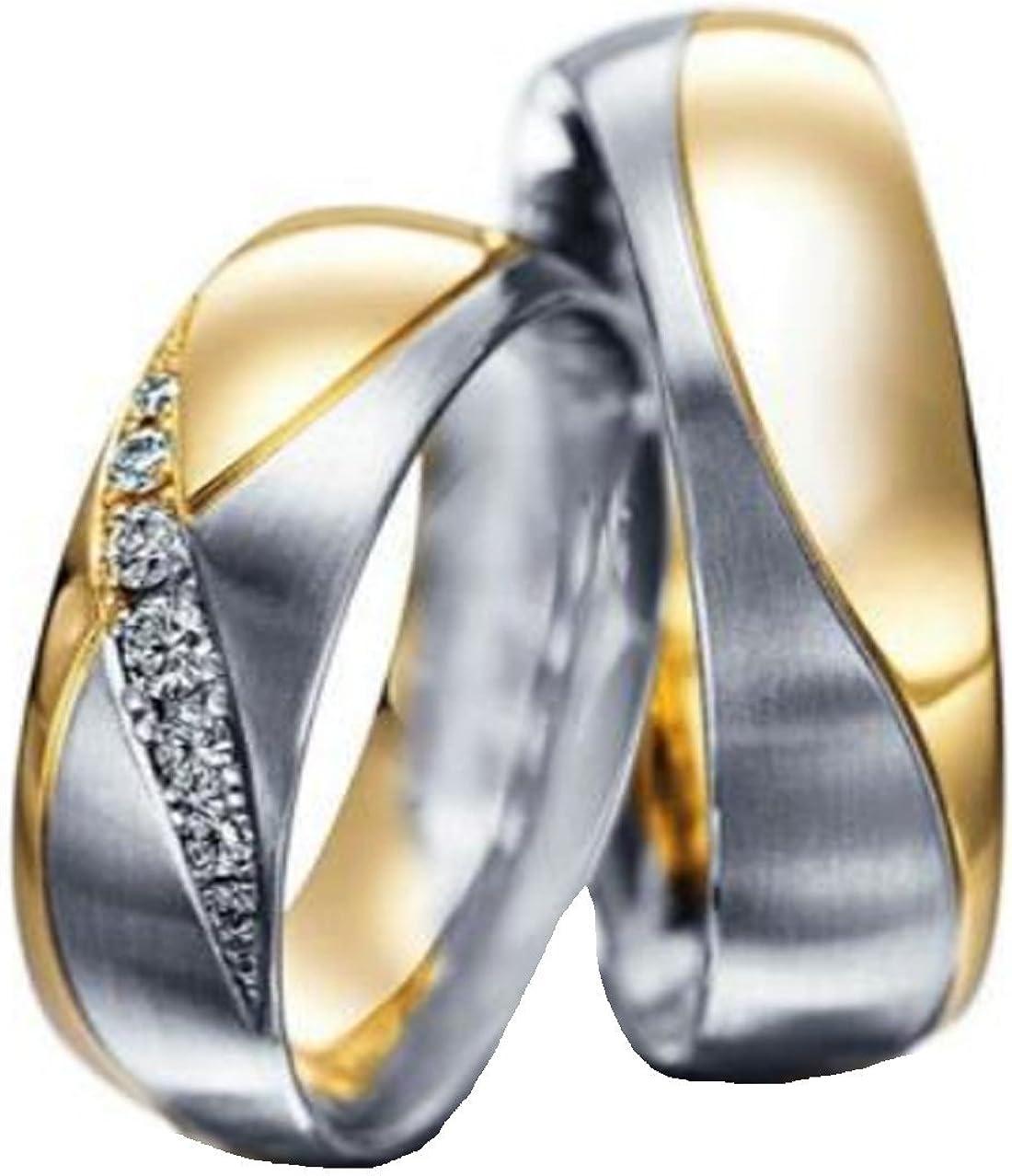 Gratis Gravur Ein Verlobungsring Trauring aus Titan rosegold/_silver TH23