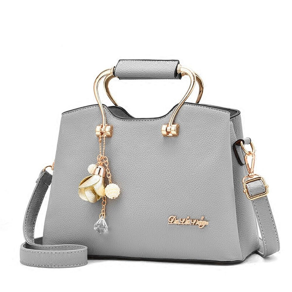 Summer, Three Layers Of Leisure Single Shoulder Bags, Sloping Handbags,Gray,26X14X18Cm
