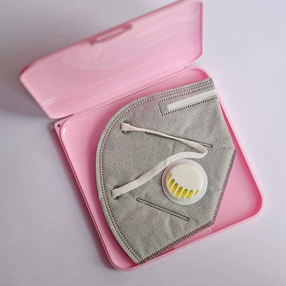 VZATT Caja de Almacenamiento de Cubierta Facial Cubierta Facial de protecci/ón Funda Organizador de Almacenamiento Caja Port/átil de Almacenamiento Caja de Limpieza a Prueba de Polvo y Humedad