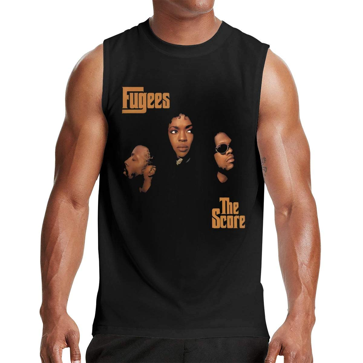 Thomlarryca Fugees The Score S Gym Muscle T Shirt Classic Athletic Sleeveless T Shirts